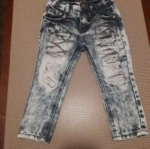 GS -115 size 3T distressed acid washed jeans